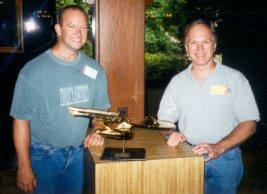 John and my buddy Don with the 1701-A movie prop from First Contact