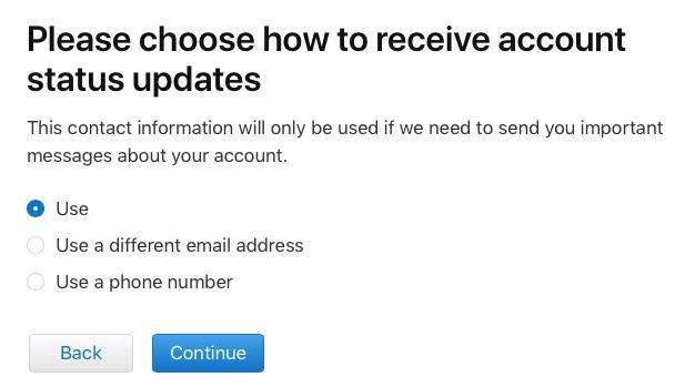 apple id account status updates