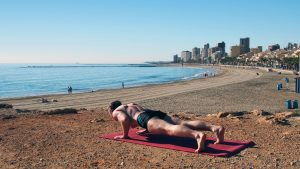 yoga for weight loss Low Plank