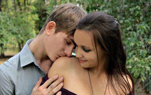 shoulder kiss