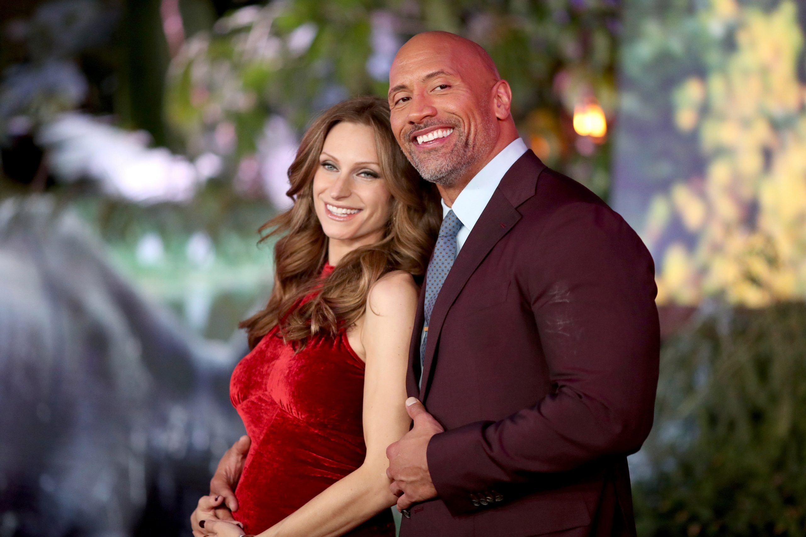 Dwayne Johnson with wife