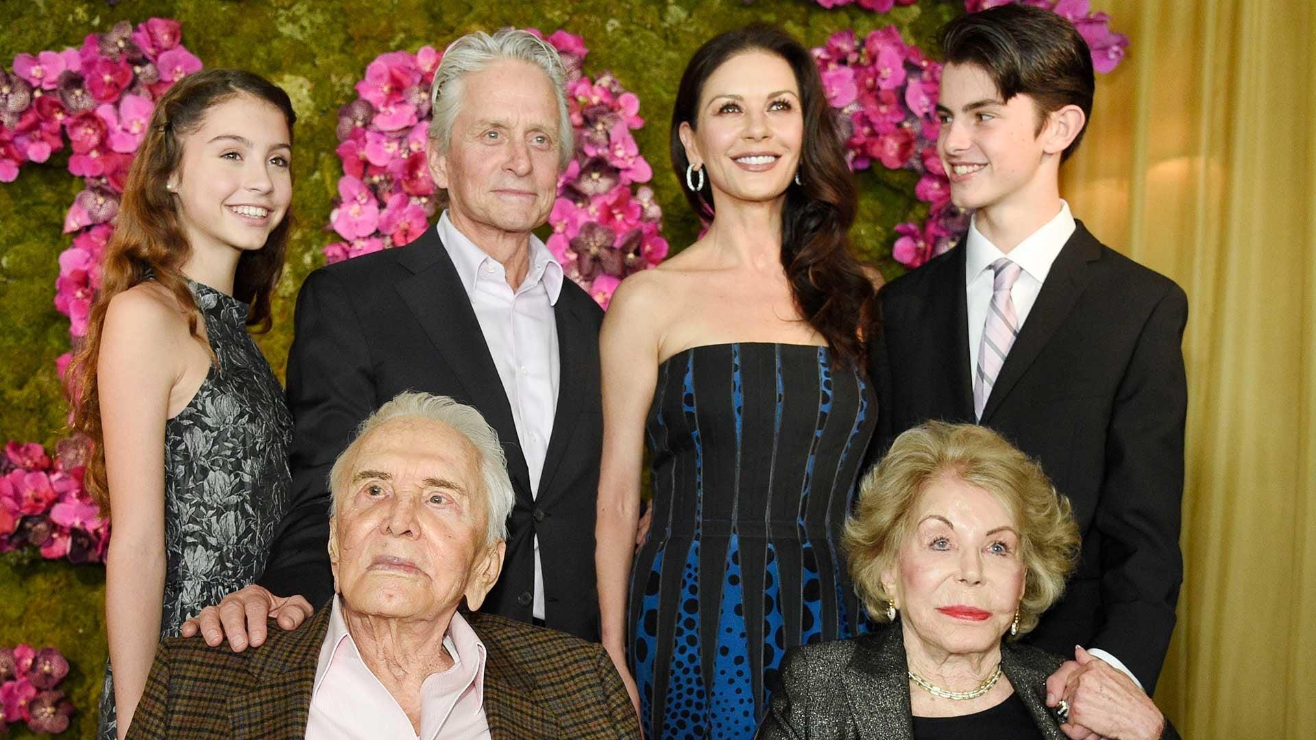 Michael Douglas with family