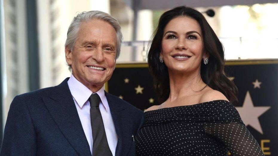 Michael Douglas with wife