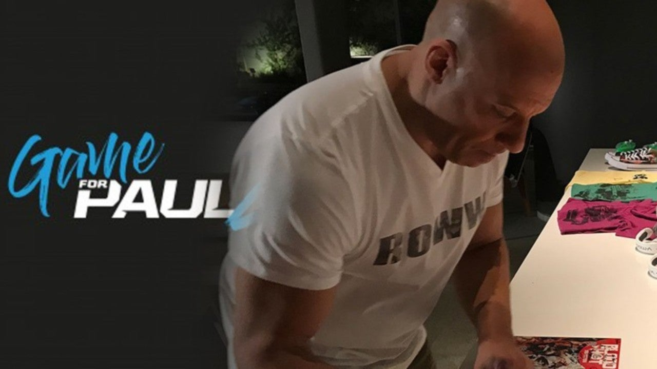 Vin Diesel at Game4Paul charity event