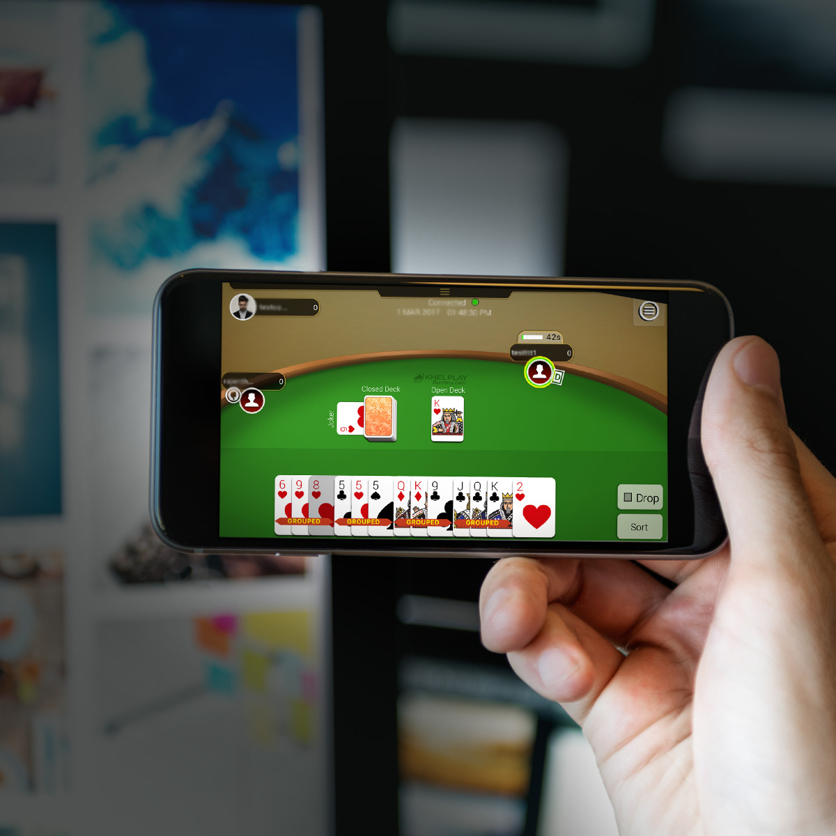 Stay Motivated at Home Playing Rummy Online